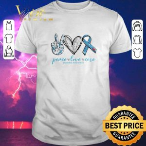 Awesome peace love cure Diabetes awareness shirt sweater