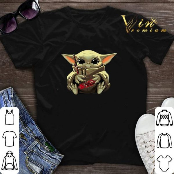 Baby Yoda Hug Bagpipes Star Wars shirt sweater