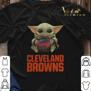 Baby Yoda Hug Cleveland Browns Logo Star Wars shirt sweater 2