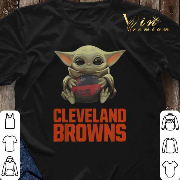 Baby Yoda Hug Cleveland Browns Logo Star Wars shirt sweater