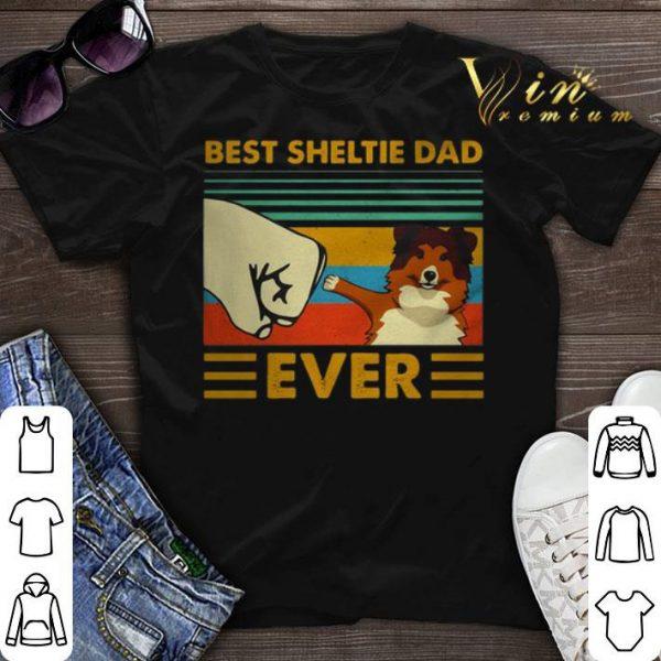 Best Sheltie dad ever vintage shirt sweater