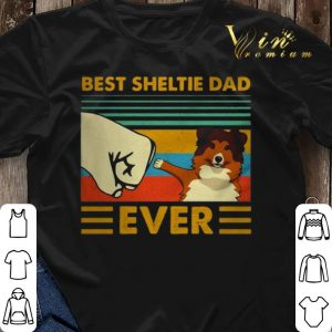 Best Sheltie dad ever vintage shirt sweater 2