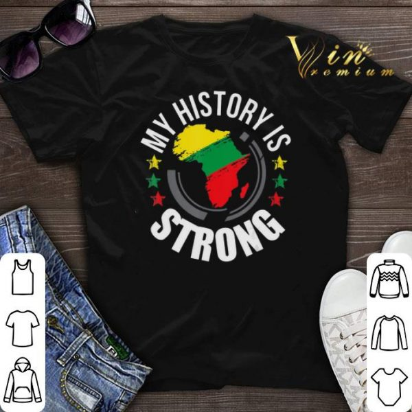 Black History Month African Map Colors shirt sweater