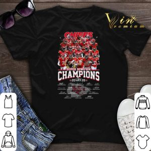 Chiefs Super Bowl Champions 2020 signatures Kansas City Chiefs shirt sweater