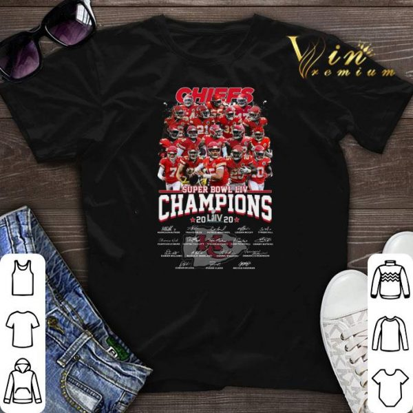 Chiefs Super Bowl Champions 2020 signatures Kansas City Chiefs shirt sweater