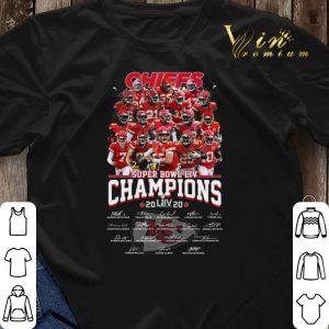 Chiefs Super Bowl Champions 2020 signatures Kansas City Chiefs shirt sweater 2