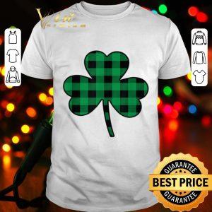 Cute Green Buffalo Plaid Shamrock St Patricks Day shirt