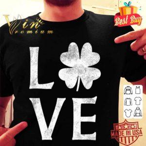 Cute I Love St Patricks Day Shamrock Green shirt