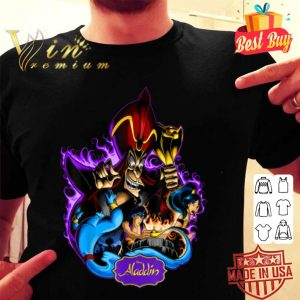 Disney Aladdin Jafar Genie Jasmine Art Graphic shirt