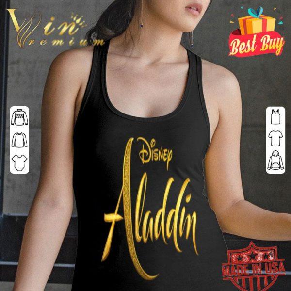 Disney Aladdin Live Action Gold Movie Logo shirt