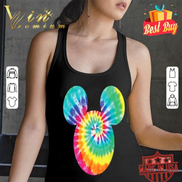 Disney Mickey Mouse Icon Rainbow Tie-Dye shirt