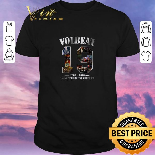 Funny 19 Years of VolBeat 2001 2020 thank you for the memories shirt sweater