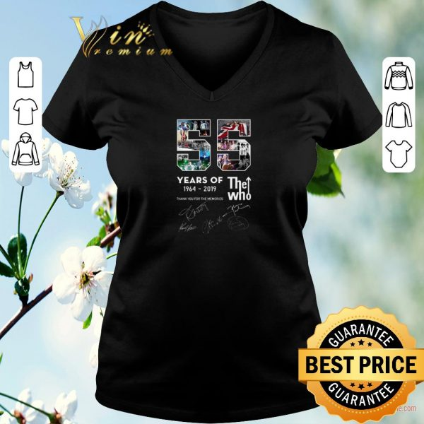 Funny 55 years of 1964-2019 The Who thank you for the memories signatures shirt sweater