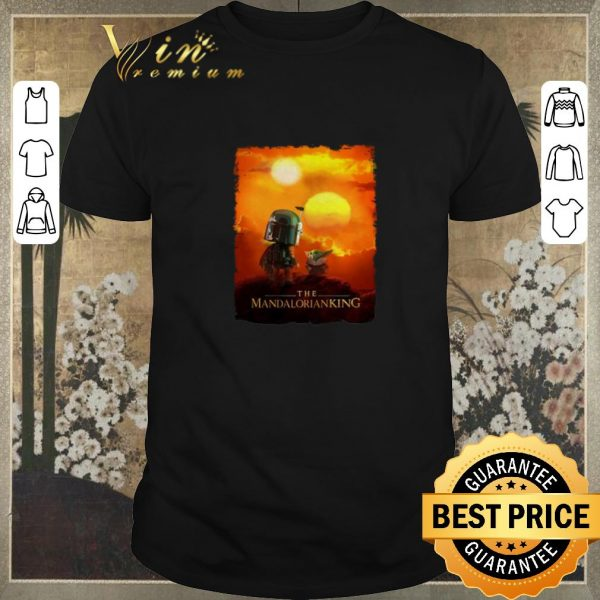 Funny Baby Yoda The Mandalorianking mashup Lion King Sunset shirt sweater
