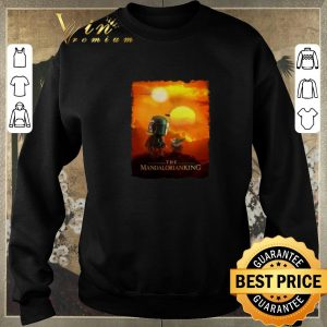 Funny Baby Yoda The Mandalorianking mashup Lion King Sunset shirt sweater 2