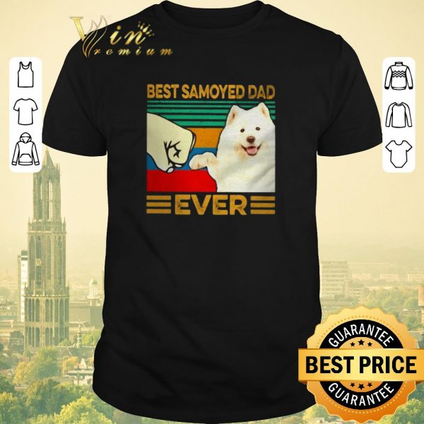 Funny Best Samoyed dad ever vintage shirt sweater