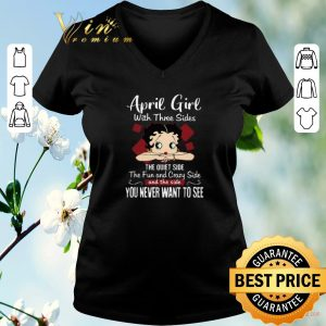 Funny Betty Boop April girl with three sides the quiet side the fun shirt sweater 1