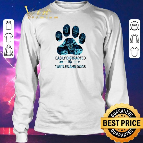 Funny Easily Distracted by Turtle and Dogs shirt sweater