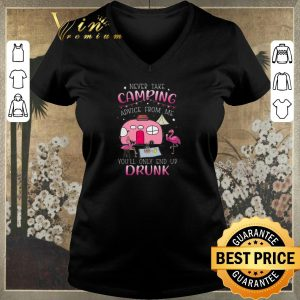 Funny Flamingos never take camping advice from me you'll only end up drunk shirt sweater