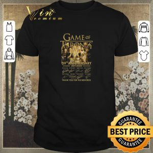 Funny Game of Thrones 09th anniversary 2011-2020 thank you for the memories shirt sweater
