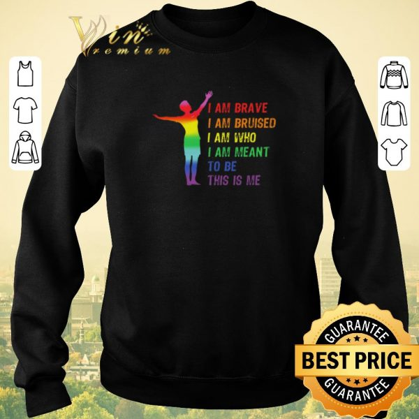 Funny LGBT I am brave i am bruised i am who i am meant to be this is me shirt sweater