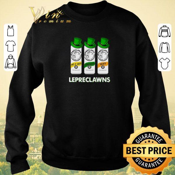 Funny Lepreclawns Pot O' Gold Shamrock Lucky St Patrick's Day shirt sweater