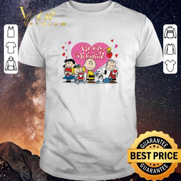 Funny Peanuts characters Be my Valentine Snoopy Charlie Brown shirt sweater