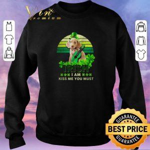 Funny Weimaraner St Patrick's Day Irish I am kiss Me You must shirt sweater 2