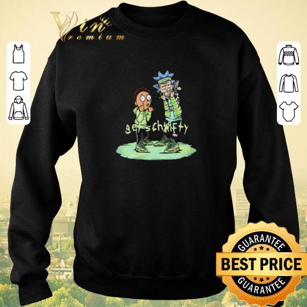 Funny Yeezreel Yeezy 350 Get Schwifty Rick and Morty shirt