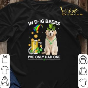 Golden Retriever in dog beers i've only had one St Patrick's day shirt sweater 2