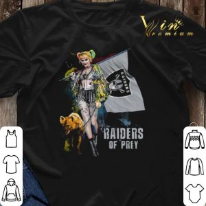 Harley Quinn flag Oakland Raiders Of Prey 2020 shirt sweater 2
