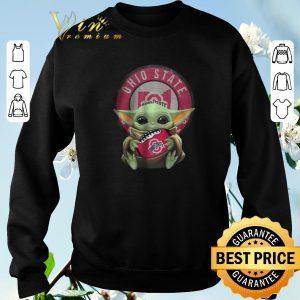 Hot Baby Yoda Ohio State Ball Logo Star Wars shirt sweater 2