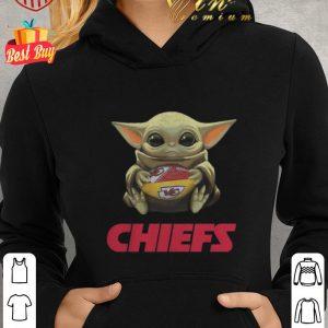 Hot Baby Yoda hug Kansas City Chiefs Logo ball Star Wars shirt 1