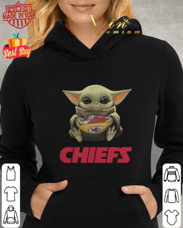 Hot Baby Yoda hug Kansas City Chiefs Logo ball Star Wars shirt