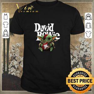 Hot Baby Yoda hug guitar David Bowie Star Wars shirt sweater