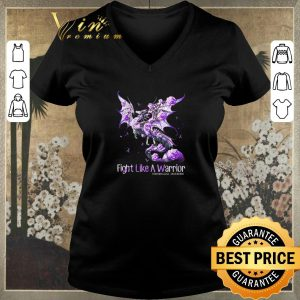 Hot Dragon fight like a warrior Fibromyalgia Awareness shirt 1