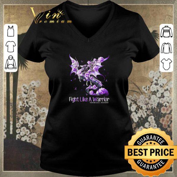 Hot Dragon fight like a warrior Fibromyalgia Awareness shirt