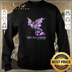 Hot Dragon fight like a warrior Fibromyalgia Awareness shirt 2