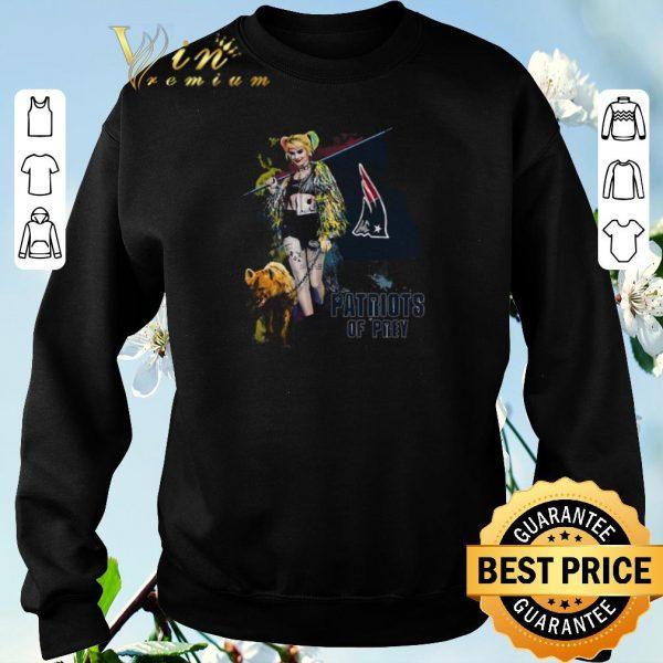 Hot Harley Quinn flag New England Patriots Of Prey shirt sweater