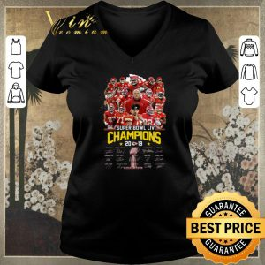 Hot Kansas City Chiefs Super Bowl LIV Champions 2019 Signatures shirt sweater 1