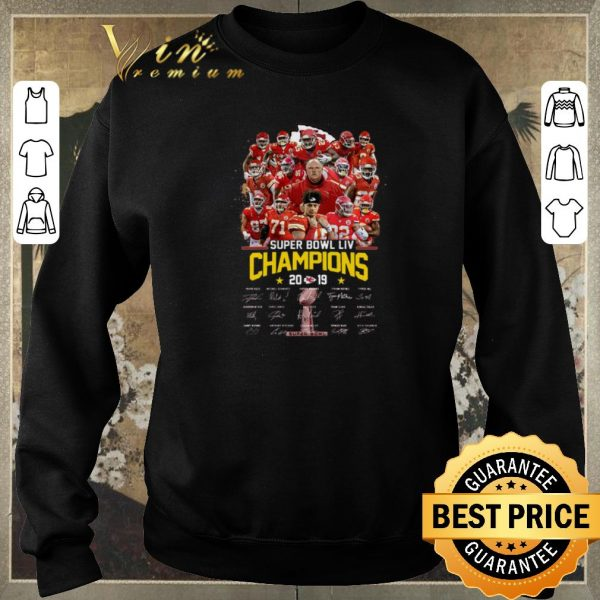 Hot Kansas City Chiefs Super Bowl LIV Champions 2019 Signatures shirt sweater