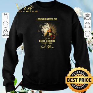Hot Legends Never Die Kurt Cobain 1967-1994 signature shirt sweater 2