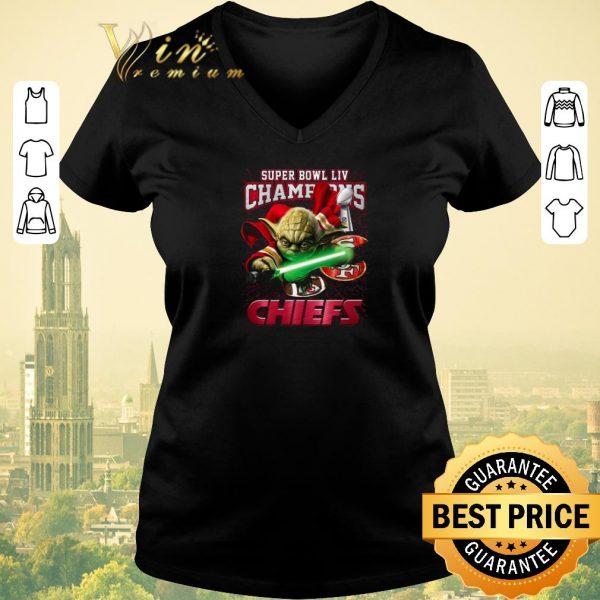 Hot Master Yoda Super Bowl LIV Champions Kansas City Chiefs 49ers shirt sweater