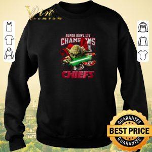 Hot Master Yoda Super Bowl LIV Champions Kansas City Chiefs 49ers shirt sweater 2