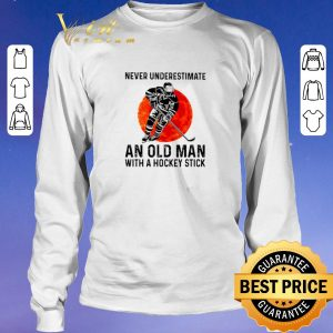 Hot Never underestimate an old man with a hockey stick sunset shirt sweater 2