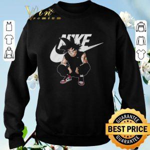 Hot Son Goku Mashup Nike Dragon Ball Z shirt sweater 2