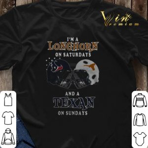I'm a Longhorn on Saturdays and a Houston Texans on Sundays shirt sweater 2