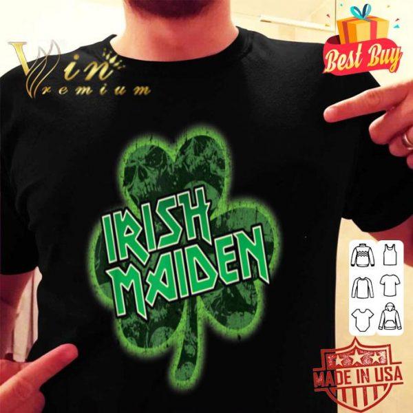 Irish Maiden Heavy Metal Parody St Patricks Day shirt