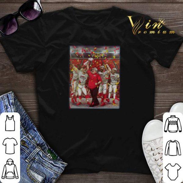 Kansas City Chiefs Andy Reid Super Bowl Champions signatures shirt sweater