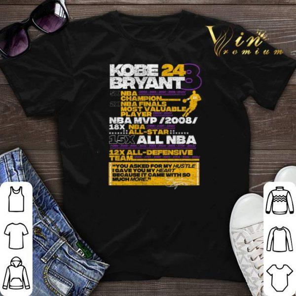 Kobe Bryant 24 8 5X NBA Champion 2X NBA Finals Most Valuable shirt sweater